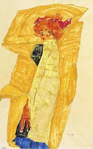 pinturas-de-retratos - Quadro -Alb Wien- - Schiele, Egon