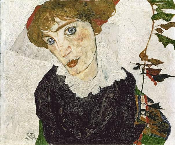 pinturas-de-retratos - Quadro -Crescent of Houses, 1915- - Schiele, Egon