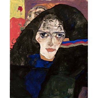 - Quadro -Mourning Woman, 1912- - Schiele, Egon