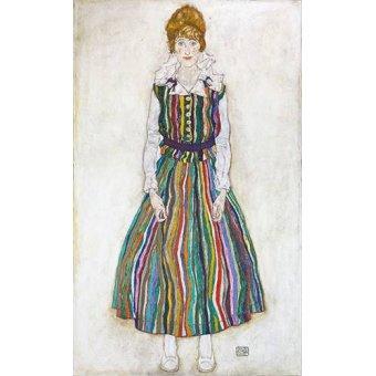 - Quadro -Portrait of Edith (the artist's wife), 1915- - Schiele, Egon