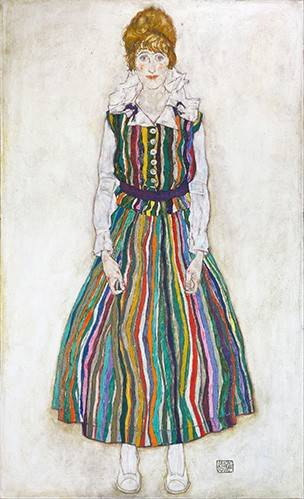 pinturas-de-retratos - Quadro -Portrait of Edith (the artist's wife), 1915- - Schiele, Egon