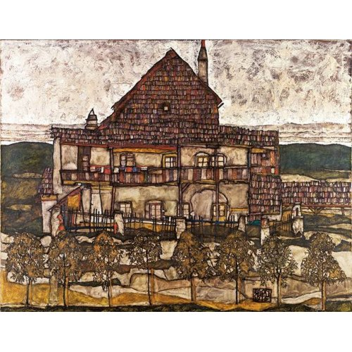 pinturas de paisagens - Quadro -House with Shingle Roof (Old House II), 1915-