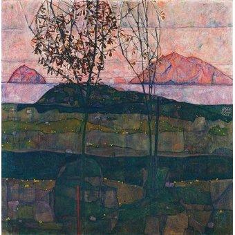 - Quadro -Setting Sun, 1913- - Schiele, Egon