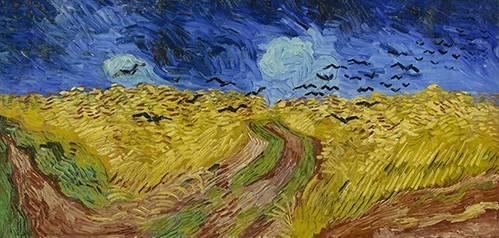 quadros-de-paisagens - Quadro -Wheatfield with Crows, 1890- - Van Gogh, Vincent