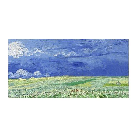 pinturas de paisagens - Quadro -Wheatfield under Thunderclouds-