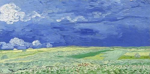 quadros-de-paisagens - Quadro -Wheatfield under Thunderclouds- - Van Gogh, Vincent