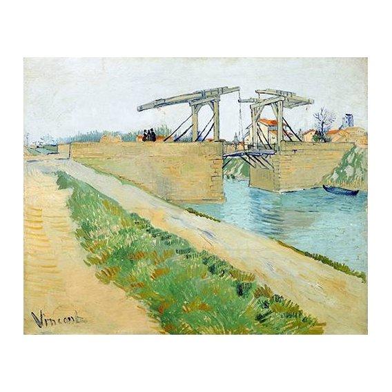pinturas de paisagens - Quadro -The Langlois bridge, 1888-