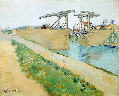 quadros-de-paisagens - Quadro -The Langlois bridge, 1888- - Van Gogh, Vincent