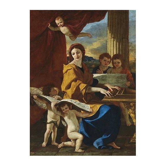 imagens religiosas - Quadro -Santa Cecilia-
