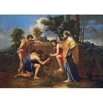 pinturas de retratos - Quadro -Los Pastores de Arcadia ó - Et in Arcadia ego -- - Poussin, Nicolas