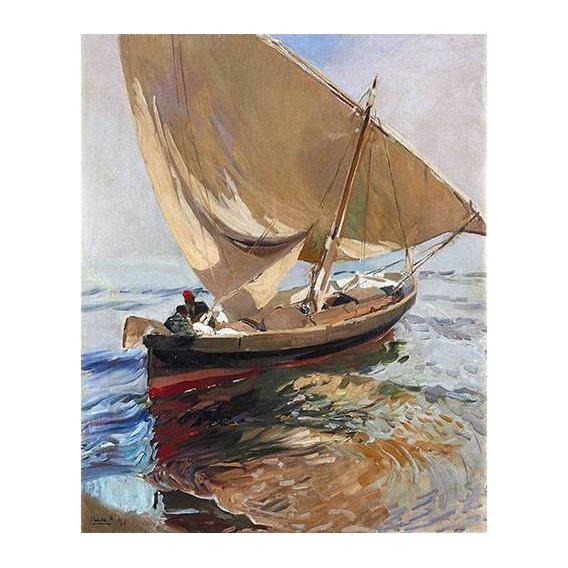pinturas de paisagens marinhas - Quadro -Camino de la pesca, 1908-