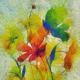 cuadros de flores - Cuadro -Moderno CM8818- - Medeiros, Celito