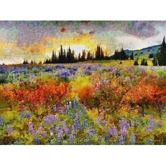 quadros de paisagens - Quadro -Moderno CM9144- - Medeiros, Celito