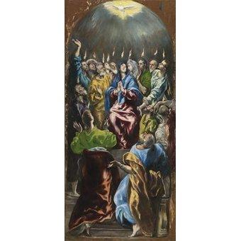 quadros religiosos - Quadro -Pentecostés, 1597- - Greco, El (D. Theotocopoulos)