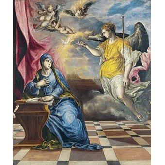 quadros religiosos - Quadro -La Anunciación, 1576- - Greco, El (D. Theotocopoulos)