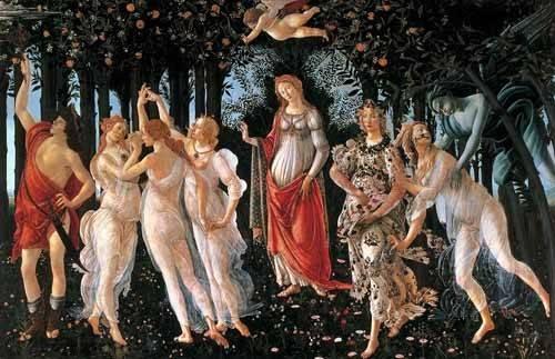 cuadros de retrato - Cuadro -La primavera- - Botticelli, Alessandro