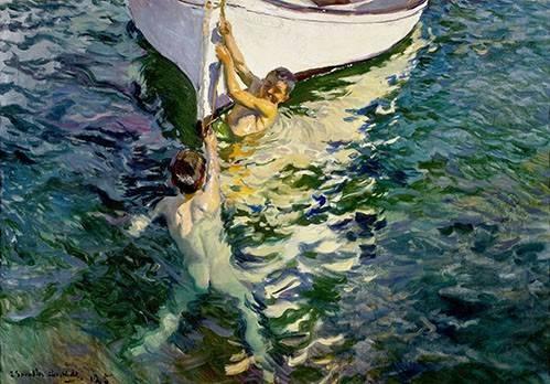 pinturas-de-retratos - Quadro -El bote blanco- - Sorolla, Joaquin