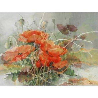 quadros de flores - Quadro -Moderno CM4409- - Medeiros, Celito