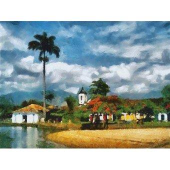 quadros de paisagens marinhas - Quadro -Moderno CM5994- - Medeiros, Celito