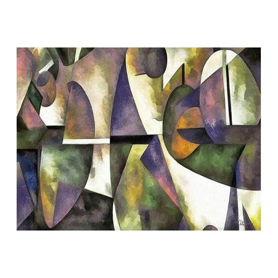pinturas abstratas - Quadro -Moderno CM6676-