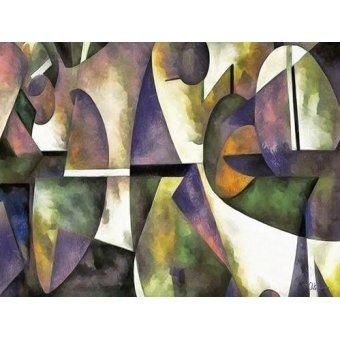Quadros abstratos - Quadro -Moderno CM6676- - Medeiros, Celito