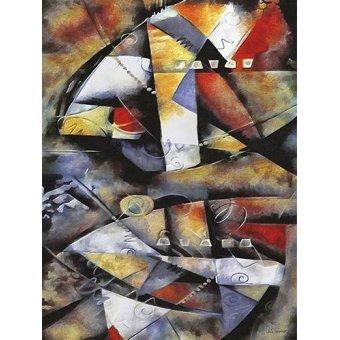 Quadros abstratos - Quadro -Moderno CM6706- - Medeiros, Celito