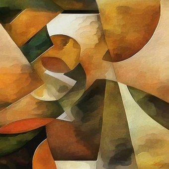 Quadros abstratos - Quadro -Moderno CM8888- - Medeiros, Celito