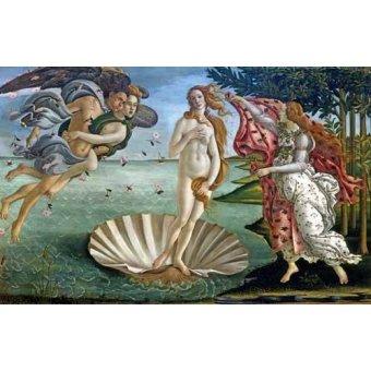 pinturas de retratos - Quadro -O Nascimento de Vênus- - Botticelli, Alessandro