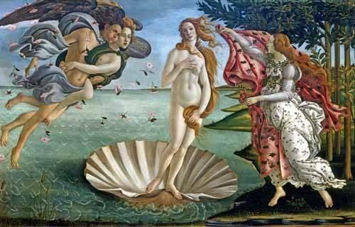 pinturas-de-retratos - Quadro -O Nascimento de Vênus- - Botticelli, Alessandro