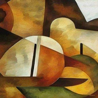 Quadros abstratos - Quadro -Moderno CM8889- - Medeiros, Celito