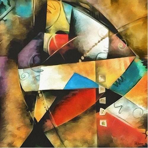 pinturas abstratas - Quadro -Moderno CM9004-
