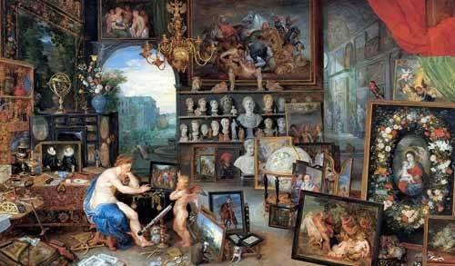pinturas-de-retratos - Quadro -El sentido de la vista- - Bruegel