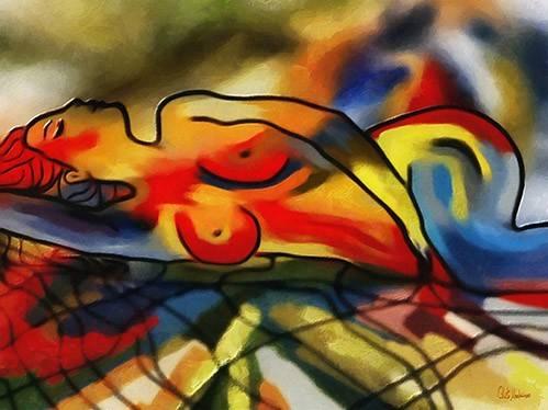 quadros-modernos - Quadro -Moderno CM9640- - Medeiros, Celito