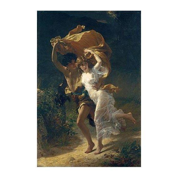 pinturas do retrato - Quadro -The Storm, 1880-