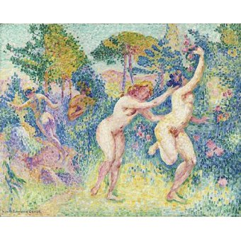 - Quadro -La Fuite Des Nymphes- - Cross, Henri Edmond