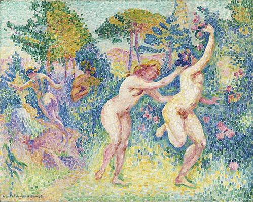 quadros-nu-artistico - Quadro -La Fuite Des Nymphes- - Cross, Henri Edmond