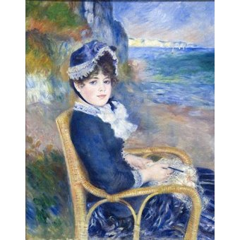 - Quadro -By the Seashore, 1883- - Renoir, Pierre Auguste
