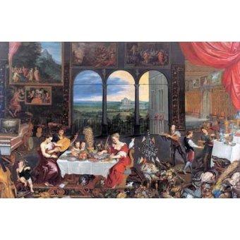 - Quadro -El gusto, el oido y el tacto- - Bruegel
