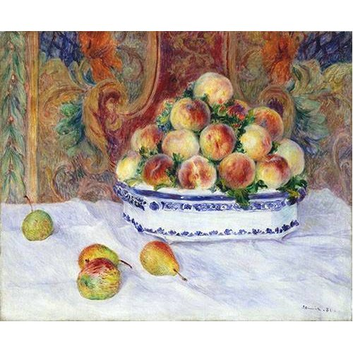 Quadro -Still Life with Peaches, 1881-
