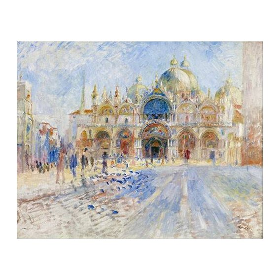 pinturas de paisagens - Quadro -La Plaza de San Marco, Venecia-