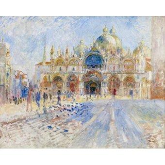 - Quadro -La Plaza de San Marco, Venecia- - Renoir, Pierre Auguste