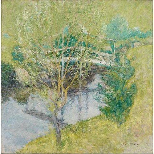 pinturas de paisagens - Quadro -El Puente Blanco-