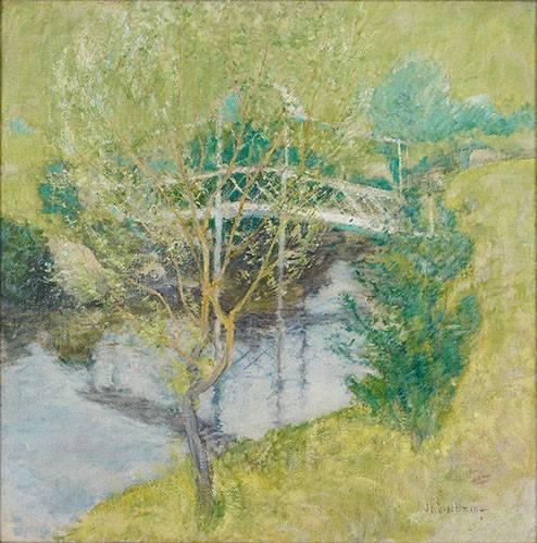 quadros-de-paisagens - Quadro -El Puente Blanco- - Twachtman, John