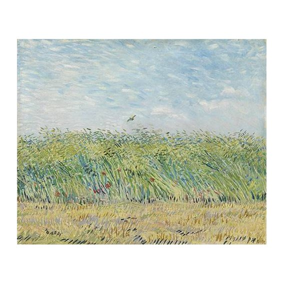 pinturas de paisagens - Quadro -Wheatfield with Partridge,1887-