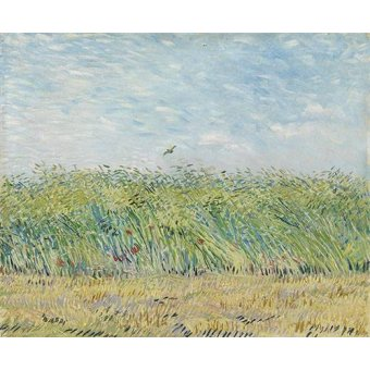 - Quadro -Wheatfield with Partridge,1887- - Van Gogh, Vincent