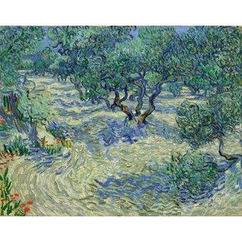 - Quadro -Olive Orchard, 1889- - Van Gogh, Vincent