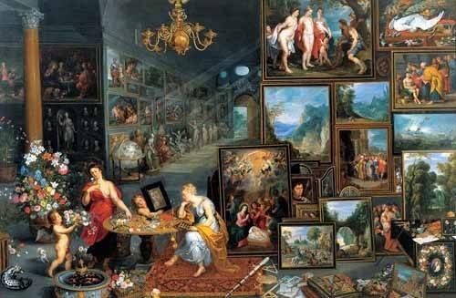 cuadros de retrato - Cuadro -La vista y el olfato- - Bruegel