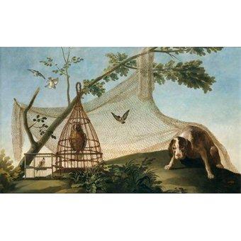 quadros de animais - Quadro -Caza con reclamo- - Goya y Lucientes, Francisco de
