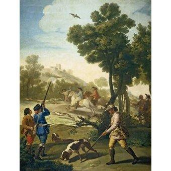 quadros de animais - Quadro -Partida de caza- - Goya y Lucientes, Francisco de