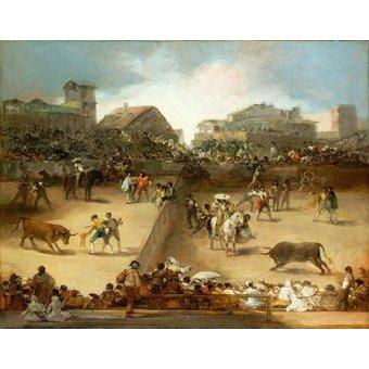 quadros de animais - Quadro -Corrida de toros en una plaza partida- - Goya y Lucientes, Francisco de